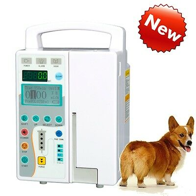 Veterinary HD LCD Infusion Pump IV & Fluid Administration Audible Visual Alarm A