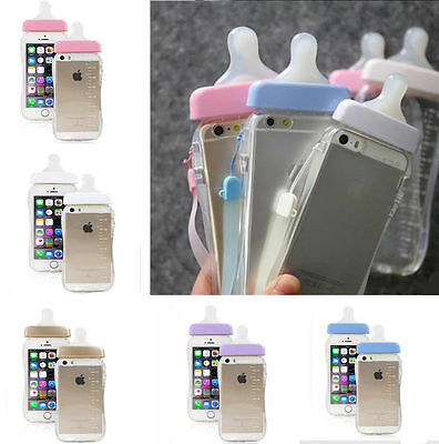 Baby Milk Bottle Cute 3D TPU Silicone Unique Clear Case For iPhone 6 6s 7 7Plus