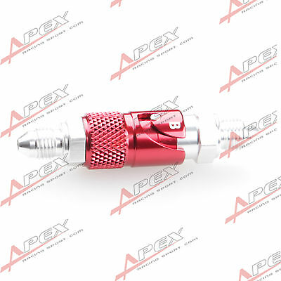 AN3 3AN -3 AN Brake Fluid Quick Release Fitting Adapter Male Red/Silver