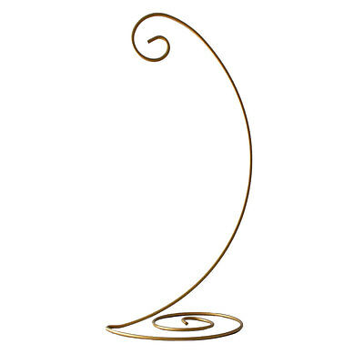 "13"" Spiral Bottom Christmas Ornament Stand in Gold Finish (Large)"