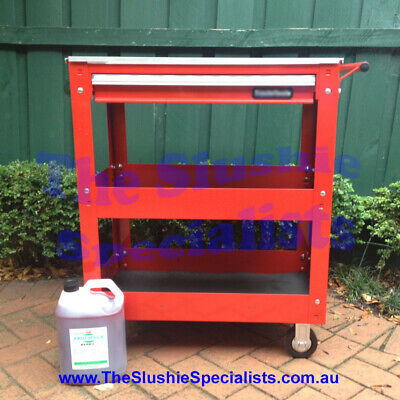 Red Slushie Machine Trolley - Heavy Duty / The Slushie Specialists