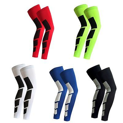 Antislip Sport Gym Leg Sleeves Compression Basketball Cycling Protection Gear