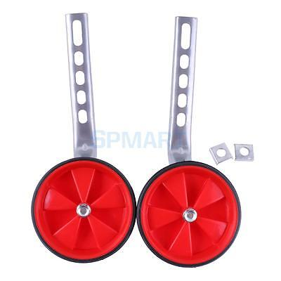 """Adjustable Children's Bicycle Bike Training Wheels fits 12"""" to 20"""" - Red"""