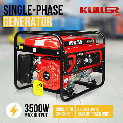 NEW 3500w Max/3100w Rated Gasoline Petrol Generator Backup Power Single-Phase