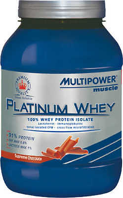MULTIPOWER PLATINUM WHEY 750g - PROTEINE ISOLATE DEL SIERO DEL LATTE