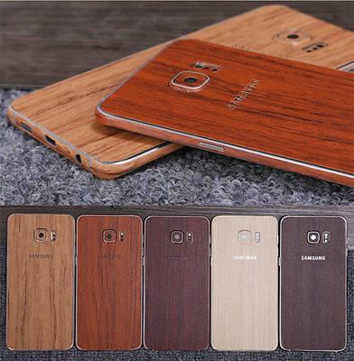 Luxury Wood Grain Full Sticker Protection Case Skin For Galaxy S6/S7 Edge/NoteS8