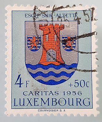 Luxembourg 1956 Sc # B196 Semi Postal Used VFU HH 4f + 50c Stamp Collection