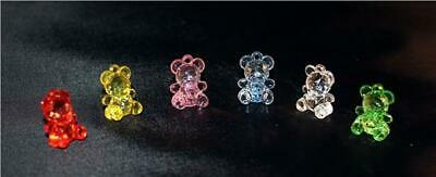 Crystal effect acrylic Teddy Bears ideal for baby showers, christening, confetti
