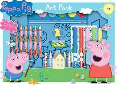 Peppa Pig Art Box Gift Set Pack Colour Pencils, Colouring Posters, Sticker Sheet