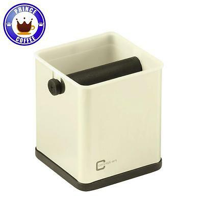 JoeFrex Stainless Steel Silver Espresso Knock Box Knocking Out Coffee Grounds