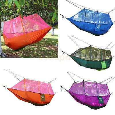 Outdoor Camping Double Hammock Tree 2 Person Patio Bed Swing with Mosquito Net