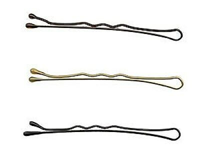 "Hair Tools Wave Hair Grips 2"" - 3 Colours - Brown, Blonde or Black - x50"