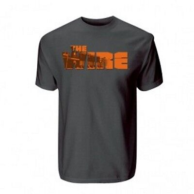 The Wire Mens T Shirt Official Crew Neck Short Sleeved Cotton Grey Logo Small