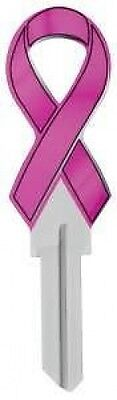 PINK RIBBON House Key Blank SCHLAGE SC BREAST CANCER HOPE
