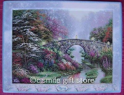 Thomas Kinkade *STILLWATER BRIDGE* plate Bradford Exchange Mint w/box & COA