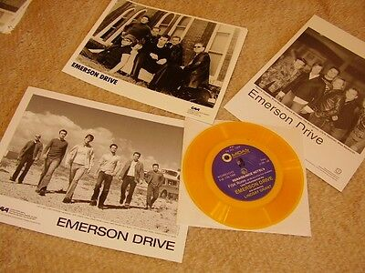 Emerson Drive *Party Invite On Yellow Vinyl+Six Handsome 8x10 Promo Photos!