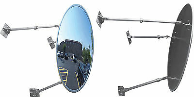 "The Best 30""Acrylic Outdoor Convex Mirror with 3 Adjustable Mounting Brackets"
