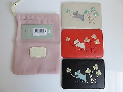 Radley Leaps and Bounds Leather Travel Card Holder BNWT RRP £22 With Dust Bag