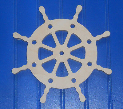 """12"""" Unpainted Wooden various NAUTICAL Shapes Cut Outs Wall  Decor Crafts"""