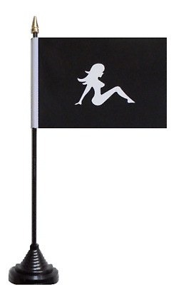 The Lady Nude Silhouette Polyester Table Desk Flag