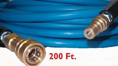 """200' High Pressure Blue Solution Hose 1/4"""" Carpet Cleaning Machine Cleaner NEW"""