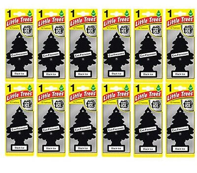 12x Magic Tree Little Tree Black ICE Scent Fragrance Car Van Air Freshener Packs