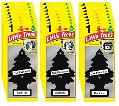 24 x Black ICE Scent Magic Tree Little Trees Car Home Air Freshener Freshener