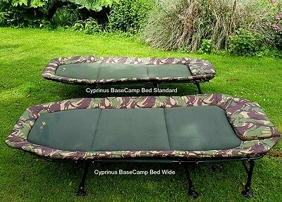 Cyprinus Base Camp Flatbed Camouflage Bedchair - Size Wide