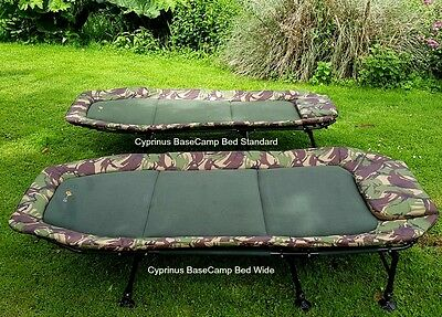 Cyprinus Base Camp Flatbed Camouflage Bedchair - Size Compact