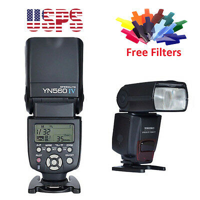 YONGNUO YN-560 IV Wrieless Speedlite Flash Light for Canon Nikon Pentax DSLR US