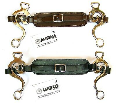 Hackamore Bitless Horse Bit Stainless Steel Padded Leather Black Brown Amidale