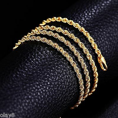 """AMAZING """"Au750"""" Real 18K Yellow Gold Necklace Rope Chain / 3.4g - 23.6"""" L"""