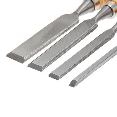 4Pcs Carving Set Wood Flat Chisel Woodworking Tool Hand DIY Home House Usage