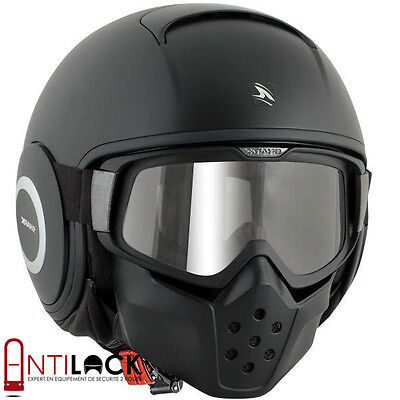 Casque Jet Shark RAW Blank Noir Mat KMA