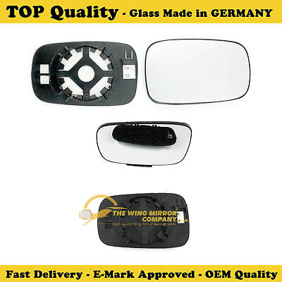 RENAULT CLIO Mk 3 WING MIRROR GLASS  ASPHERIC,HEATED&BASE,RH SIDE,2005->2009