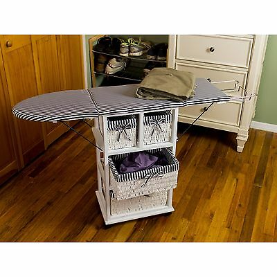 NEW All-in-One Ironing Board & Shelving Unit Laundry Room Organize Space Saver