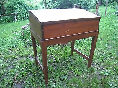 Antique Early 1800's William & Mary Style Pine Schoolmaster's Desk