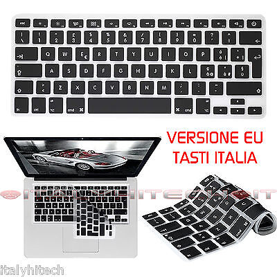 "Cover Silicone Copri Tastiera Per Apple Macbook Air 13"" Versione Eu Tasti Italia"