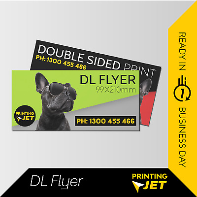(1000 DL Flyers Double/Single Sided) 150gsm/300gsm DL Flyer Printing