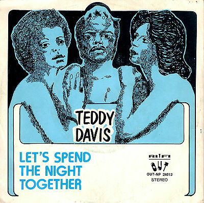 TEDDY DAVIS & DISCOLETTES let's spend the night together 45RPM orig Italy reggae