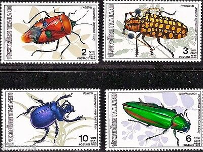 Thailand 1989 - Insects , Beetles, Stamp set MNH