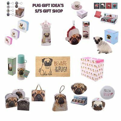 Pug Gift Ideas - Pugs - Cute - Mat - Air Freshener - Flask - Pugs - Gifts - New