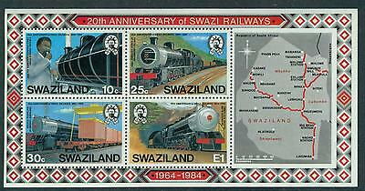 Swaziland 1984 20Th Anniv. Of State Railways S/s Mnh M15172
