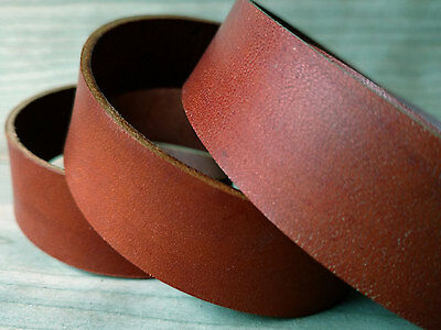 "46"" HAY BROWN VEG TANNED LEATHER STRAP 1.8/2mm TUSCANY LEATHER VARIOUS WIDTHS"