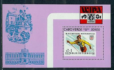 Cape Verde 1981 Wipa'81 Int. Stamp Exhibition S/s Mnh M14591