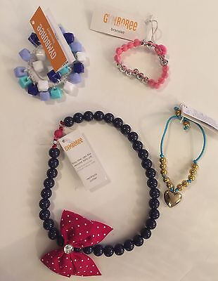 Gymboree Accessories Lot - Jewelry, Necklace, Bracelet, Ring, Hair Clips NEW #80