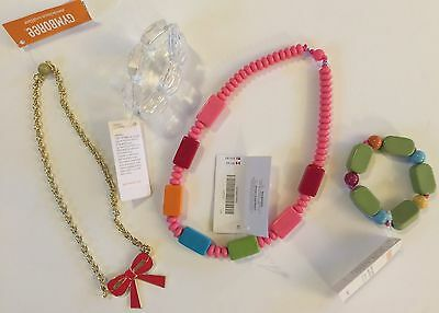 Gymboree Accessories Lot - Jewelry, Necklace, Bracelet, Ring, Hair Clips NEW #84