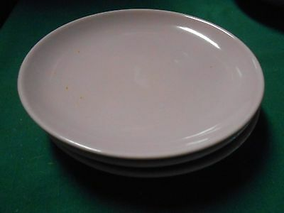 """RUSSEL WRIGHT """"Iroquois"""" Casual China-PINK  Set of 3 BREAD-SALAD-DESSERT Plates"""