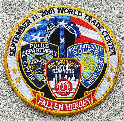 """NEW YORK 9/11 HEROES PATCH NYPD FDNY Port Authority Police NY NJ Large Badge 5"""""""