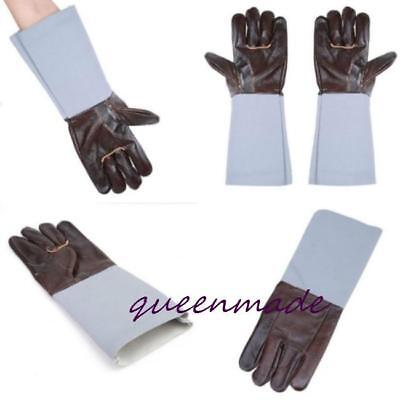1 Pair Leather Welding Gloves Protective Safety Wear BBQ Gloves Safety Wear Q